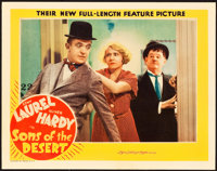 """Sons of the Desert (MGM, 1933). Lobby Card (11"""" X 14"""")"""