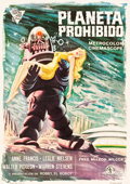 "Movie Posters:Science Fiction, Forbidden Planet (Cire Films, 1966). Spanish One Sheet (27.5"" X39"").. ..."