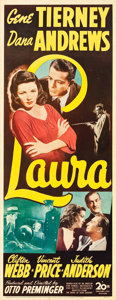"Movie Posters:Film Noir, Laura (20th Century Fox, 1944). Insert (14"" X 36"").. ..."