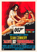 "Movie Posters:James Bond, Thunderball (United Artists, 1965). Italian 4-Foglio (55"" X 77"")....."