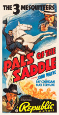 "Movie Posters:Western, Pals of the Saddle (Republic, 1938). Three Sheet (41"" X 80.5"")....."