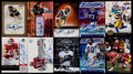 Football Cards:Lots, 1994-2004 Football Wide Receiver Autograph Card Collection (10)....