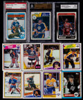 Hockey Cards:Lots, 1982-90 Hockey & Basketball Collection (11) With 1988 FleerPippen Gem Mint 10....