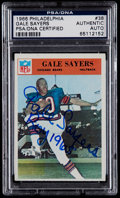 Football Cards:Singles (1960-1969), Signed 1966 Philadelphia Gale Sayers Rookie Card #38 PSA/DNA Authentic....