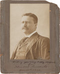 Autographs:U.S. Presidents, Theodore Roosevelt Photograph Signed as President....