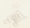Animation Art:Production Drawing, Beach Party Clarabelle Cow Animation Drawing (Walt Disney,1931)....