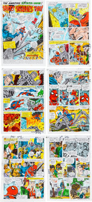 """John Romita Sr. and Frank Giacoia Amazing Spider-Man #107 """"Spidey Smashes Thru!"""" Complete 21-Page Hand Pai..."""