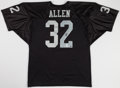 Football Collectibles:Uniforms, Marcus Allen Signed Raiders Jersey....