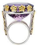 Estate Jewelry:Rings, Amethyst, Diamond, Gold Ring, Patricia Makena. ...