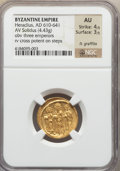 Ancients:Byzantine, Ancients: Heraclius (AD 610-641). AV solidus (4.43 gm)....