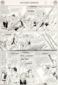 "Original Comic Art:Panel Pages, Curt Swan and George Klein Action Comics #304 ""TheInterplanetary Olympics"" Page 9 Original Art (DC, 1963)...."