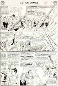 """Curt Swan and George Klein Action Comics #304 """"The Interplanetary Olympics"""" Page 9 Original Art (DC, 1963)"""