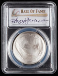 Baseball Collectibles:Others, 2014 Reggie Jackson Signed Baseball Hall of Fame Silver Dollar PCGSMS70 Coin. ...