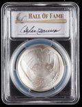 Baseball Collectibles:Others, 2014 Andre Dawson Signed Baseball Hall of Fame Silver Dollar PCGSMS70 Coin. ...
