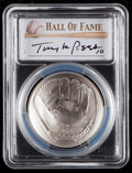 Baseball Collectibles:Others, 2014 Tony LaRussa Signed Baseball Hall of Fame Silver Dollar PCGSMS70 Coin. ...