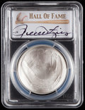 Autographs:Bats, 2014 Rollie Fingers Signed Baseball Hall of Fame Silver Dollar PCGSMS70 Coin. ...