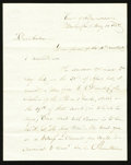 Fractional Currency:Shield, Spinner Handwritten Letter Dated May 10, 1858.. ...