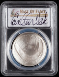 Baseball Collectibles:Others, 2014 Carlton Fisk Signed Baseball Hall of Fame Silver Dollar PCGSMS70 Coin. ...