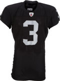 Football Collectibles:Uniforms, 2011 Carson Palmer Game Worn Oakland Raiders Jersey....