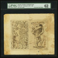 Colonial Notes:South Carolina, South Carolina February 8, 1779 $50 Full Sheet of Two PMGUncirculated 62.. ...