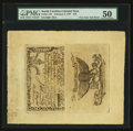 Colonial Notes:South Carolina, South Carolina February 8, 1779 $70 Complete Sheet of Two PMG AboutUncirculated 50.. ...