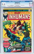 Bronze Age (1970-1979):Superhero, The Inhumans #1 (Marvel, 1975) CGC NM 9.4 Off-white to white pages....