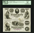 Obsoletes By State:Massachusetts, Boston, MA- Eliot Bank $50-$100 UNL-G18 Uncut Pair Proofs. ...
