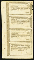 Colonial Notes:Connecticut, Connecticut Loan Certificate May 14, 1778 £300 Anderson 16 Choice New Uncut Sheet.. ...