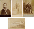 Military & Patriotic:Civil War, 4 Cabinet Card Photos of John W. January, Andersonville Survivor...