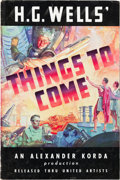 "Movie Posters:Science Fiction, Things to Come (United Artists, 1936). Pressbook (12"" X 18"", 24Pages) and Four Color Herald (9"" X 12"").. ..."