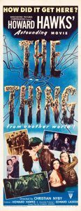"Movie Posters:Science Fiction, The Thing from Another World (RKO, 1951). Insert (14"" X 36"").. ..."