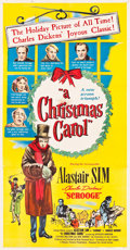 "Movie Posters:Drama, A Christmas Carol (United Artists, 1951). Three Sheet (41"" X 79"")....."