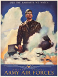 "Movie Posters:War, World War II Propaganda (U.S. Government Printing Office, 1944).Army Air Forces Poster (19"" X 24.75"") ""O'er the Ramparts We..."