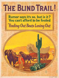 "The Blind Trail! (Mather and Company, 1926). Motivational Poster (35"" X 46.5"")"
