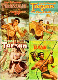 Books:Children's Books, [Edgar Rice Burroughs]. Group of Four Abridged EditionTarzan Books. Racine, WI: Whitman Publishing, [1954 - 196...(Total: 4 Items)