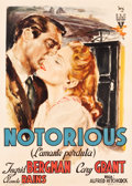 "Movie Posters:Hitchcock, Notorious (RKO, 1946). Italian 2-Foglio (39"" X 54.25"").. ..."