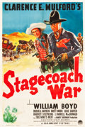 "Movie Posters:Western, Stagecoach War (Paramount, 1940). One Sheet (27"" X 41"").. ..."