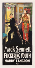 "Movie Posters:Comedy, Flickering Youth (Pathé, 1924). Three Sheet (41"" X 79"").. ..."