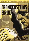 "Movie Posters:Horror, The Bride of Frankenstein (Universal, 1935). Full-Bleed Swedish OneSheet (27"" X 39.25"").. ..."