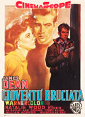 "Movie Posters:Drama, Rebel without a Cause (Warner Brothers, 1955). Italian 2-Foglio (39.25"" X 54.25"").. ..."