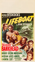 "Movie Posters:Hitchcock, Lifeboat (20th Century Fox, 1944). Midget Window Card (8"" X 14"")....."