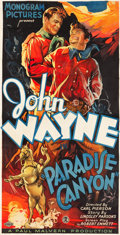 "Movie Posters:Western, Paradise Canyon (Monogram, 1935). Three Sheet (40"" X 81"").. ..."