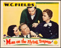 """Movie Posters:Comedy, Man on the Flying Trapeze (Paramount, 1935). Lobby Card (11"""" X14"""").. ..."""