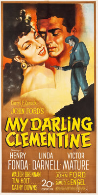 "My Darling Clementine (20th Century Fox, 1946). Three Sheet (39.5"" X 81"")"