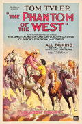 """Movie Posters:Serial, The Phantom of the West (Mascot, 1931). One Sheet (27"""" X 41"""")Chapter 1 -- """"The Ghost Riders."""". ..."""