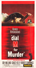 "Movie Posters:Hitchcock, Dial M for Murder (Warner Brothers, 1954). Three Sheet (41.25"" X 79"").. ..."