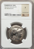Ancients:Greek, Ancients: PAMPHYLIA. Side. Ca. 205-85 BC. AR tetradrachm. ...