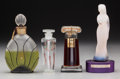 Art Glass:Other , Four Assorted Glass Perfumes. Circa 1940-1990.. Brands includingWeil & Lancome. Ht. 7 in.. ... (Total: 4 Items)