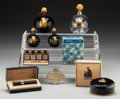 Art Glass:Other , Eight Lanvin Perfume Bottles . Circa 1920. Ht. 5-1/2 in. (tallest).... (Total: 10 Items)