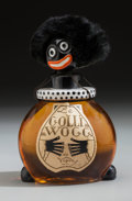 Art Glass:Other , Vigny Golliwogg French Perfume Bottle and Box. Circa 1925.Ht. 6-1/8 in.. ... (Total: 3 Items)